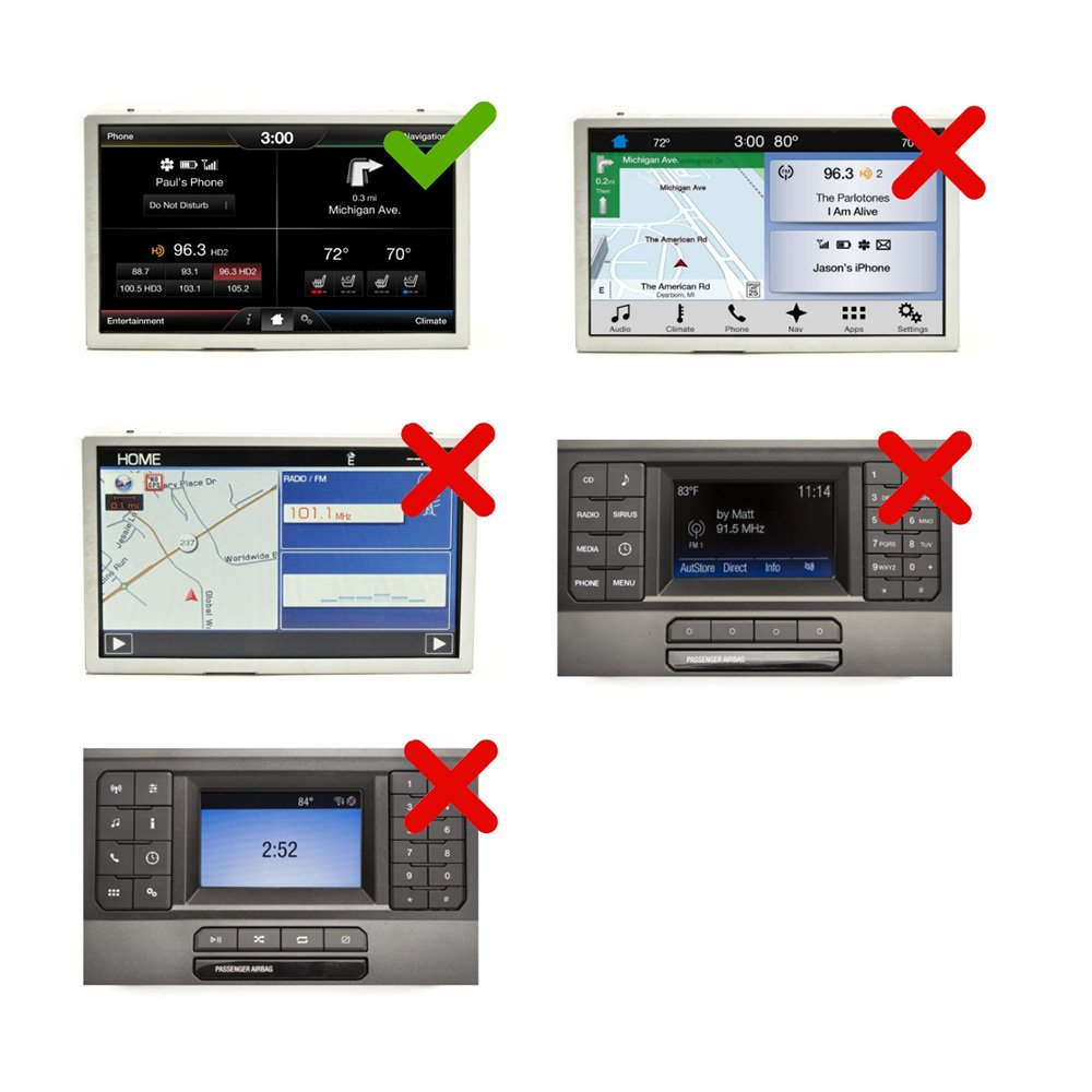Auto Retrofit - Ford SYNC2 MyFord Touch® Apple CarPlay & Android Auto Integration Kit (Wireless)