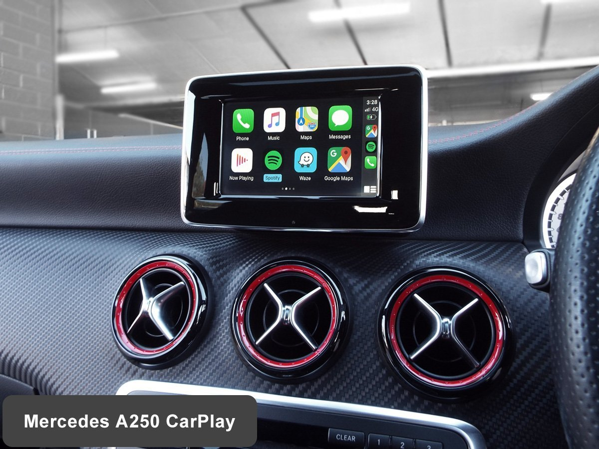 Auto Retrofit - Mercedes Benz A250 with Wireless Apple CarPlay installed by Auto Retrofit