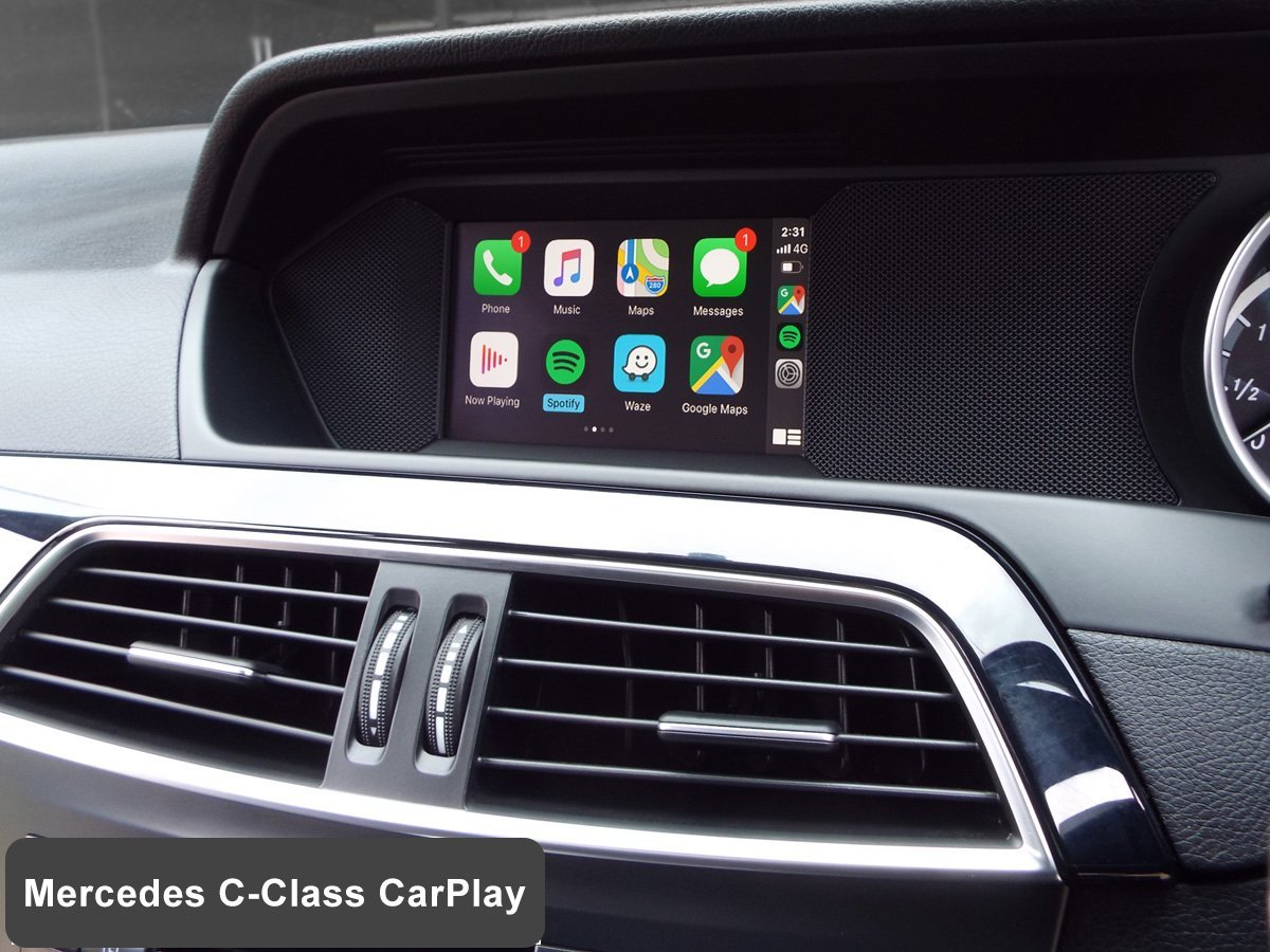 Auto Retrofit - Mercedes Benz C-Class (W204) with Wireless Apple CarPlay installed by Auto Retrofit