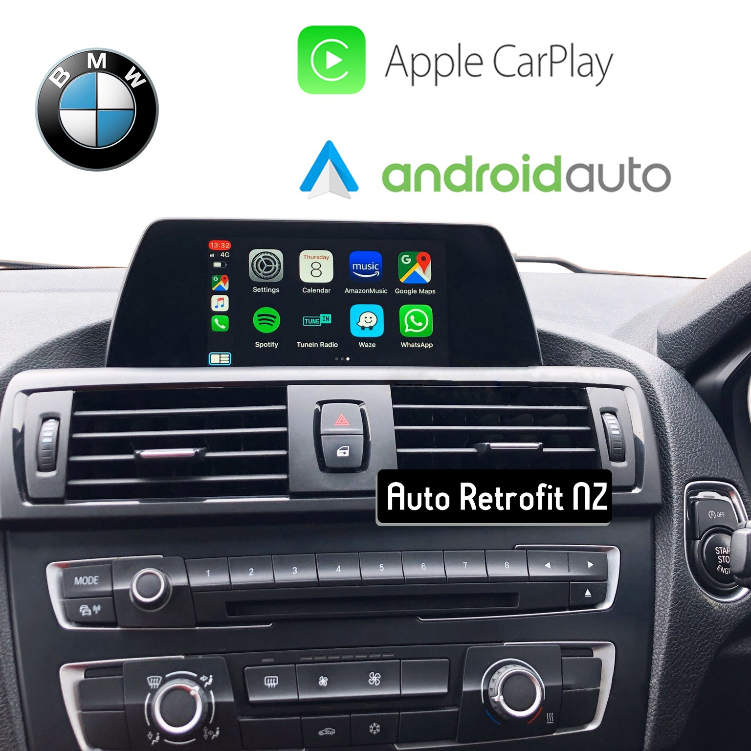 Auto Retrofit - BMW Wireless Apple CarPlay & Android Auto